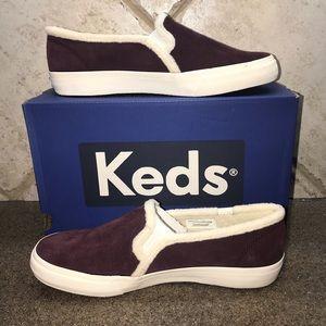 🆕Keds Burgundy DoubleDecker Suede SlipOn Sneaker